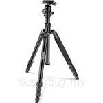 Primaphoto Foldable Big Tripod Kit Black with Ball Head & Bag - PHTRBBK