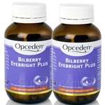 Opceden Bilberry Eyebright Plus (60 Veg Capsules x 300mg) Twin Pack