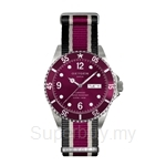 OXYGEN EX Diver Grape 36 Nato Nylon Black Ivory Plum