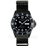 OXYGEN EX Diver Mobydick Black 40 Nato Leather Navy