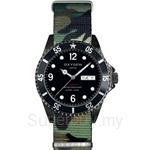 OXYGEN EX Diver Mobydick Black 40 Nato Nylon ARMY