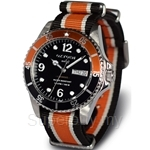 OXYGEN EX Diver Snooker 40 Nato Nylon Black Ivory Orange