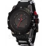 SHARK Sport Watch Tooth Racing 3ATM Digital Waterproof Silicone Strap Black Red Fashion Men Casual Wristwatch - SH166