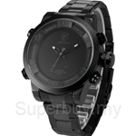 SHARK Sport Watch Water Resistance Fashion Dual Movement LED Calendar Alarm Quartz Mens Military Watch - SH364