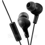 JVC Inner Ear Headphones with Remote & Mic - HA-FR6-B