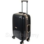 Travo AL Series 20 Inch Hard Case Aluminium Frame Trolley Luggage - Signature Black Gold