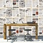 Walplus Mural Flexi Vintage Newspaper Wall Sticker 20cm x 30cm x 27pcs - WF10002