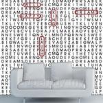 Walplus Mural Words On The Wall Sticker 60cm x 90cm x 4pcs - WF6001