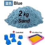 Kids Station Motion Moving Play Sand 2kg (Blue) - MTMS‐B