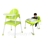 Kids Station Multipurpose Baby High Chair (Green) - KFMBHC‐G