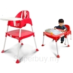 Kids Station Multipurpose Baby High Chair (Red) - KFMBHC‐R