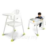 Kids Station Multipurpose Baby High Chair (White) - KFMBHC‐W