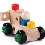 Kids Station 30 Pcs Changeable Nut Building Blocks Car - ETY5823