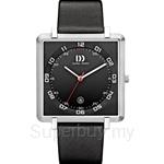 Danish Design Titanium Leather Strap Square Date Unisex Watch - IQ13Q1059