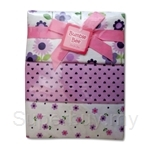 Bumble Bee 100% Cotton 3-Receiving Blankets Purple Daisy - BLK0034