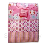 Bumble Bee 100% Cotton 3-Receiving Blankets Pink Owl - BLK0035