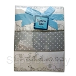 Bumble Bee 100% Cotton 3-Receiving Blankets Lilac Animals - BLK0036