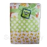 Bumble Bee 100% Cotton 3-Receiving Blankets Green Giraffe - BLK0037