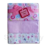 Bumble Bee 100% Cotton 3-Receiving Blankets Pink Flower - BLK0042