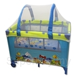 Bumble Bee Under the Sea 2 Levels Bassinet Playpen FREE Latex Mattress + Curved Mosquito - HW0012-PKG
