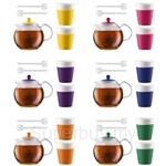 Bodum Assam Tea Set (Assam Tea Press 1.0L + 2 Cups + 2 Spoons)- Assorted Colours