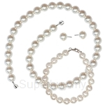 Kelvin Gems Basic SWAROVSKI Pearl Full Gift Set Crafted by Angie - (40cm Necklace)