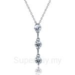 Kelvin Gems Premium Past Present Future Pendant Necklace