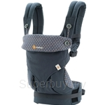 Ergobaby Four Position 360 Baby Carrier Dusty Blue - BC360ABLU