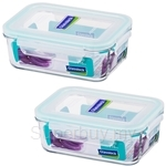 Glasslock 715ml Tempered Glass Food Container Rectangular