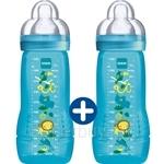 MAM Baby Bottle Jungle 330ml Twin Pack (Teat Size 3) - B770