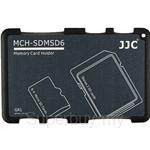 JJC Memory Card Holder Fits 2x SD Cards + 4 Micro SD Cards - MCH-SDMSD6GR