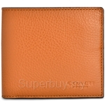 Coach Double Billfold Wallet In Calf Leather (Saddle) - F75084