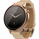 Motorola Moto 360 2nd Gen Small 42mm Rose Gold Watch with Blush Leather Strap