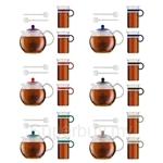 [2016 Edition] Bodum Assam Tea Set (Assam Tea Press 1.0L + 2 Mugs + 2 Spoons)(Assorted Colours) - AK1830-XYB-Y16