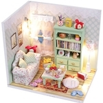 Pocohouze Family Hall DIY Miniature Dollhouse - M012