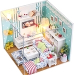 Pocohouze Family Room DIY Miniature Dollhouse - M002