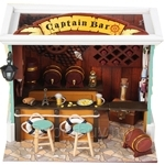 Pocohouze Captain Bar DIY Miniature Dollhouse - C004