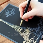 Lago Eiffel Tower Scratch Coloring Postcard (1 Card)