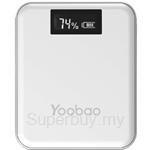 Yoobao  Master 10000mAh LCD Power Bank White - YB-M4-Plus