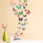 Walplus 34pcs Colorful Butterflies with 38pcs Authentic Swarovski Elements - SE-3013