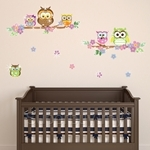 Walplus Colorful Owl with 38pcs Authentic Swarovski Elements - SE-3027