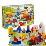 Regis Toy 114 pieces Transport Building Blocks with Puzzle Mat