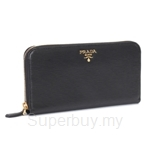 Prada Vitello Move Zipped Wallet Nero - 1ML506