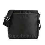 Prada Tessuto Saffiano Messenger Bag Black - 2VH797