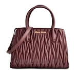Miu Miu Matelasse Small Shopping Bag Granato - 5BG069