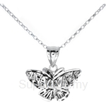 Poh Kong 9K White Gold Butterfly Pendant - 657144