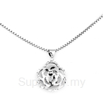 Poh Kong 9K White Gold Double Layered Floral Pendant - 649280