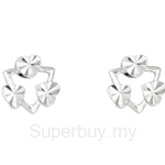 Poh Kong 9K White Gold Simplicity Earrings - 613163