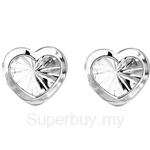 Poh Kong 9K White Gold Enchanting Heartshape Earrings - 580704