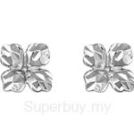 Poh Kong 9K White Gold Floral Earrings - 565058